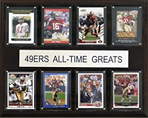 NFL San Francisco 49ers All-Time Greats Plaque by Topps