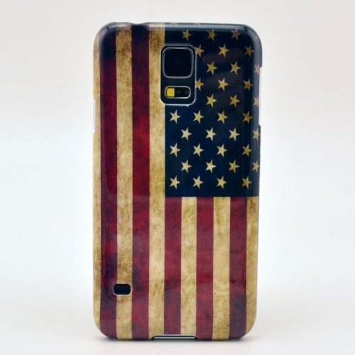 S5 case, Retro Flag of the United States Hard Back Case Cover for Galaxy S5 / Galaxy SV / Galaxy S V 9600 (United States Cases compare prices)