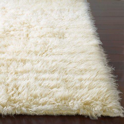 Flokati Area Rug 3x5 Natural Wool White Heavy Soft Shag Carpet