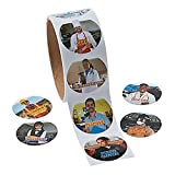 Community Helper Photo Stickers ~ 1 Roll of 100 Round Paper Stickers ~ New / Shrink-wrapped
