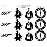 24 x PRE-CUT James Bond 007 Cake Toppers Decorationsby eShack