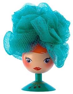 Pylones Pretty Lady Pouf Bath / Shower Body Scrub, Turquoise Blue
