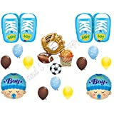 IT'S A BOY SPORTS Theme Baby Shower Balloons Decoration Supplies Shoes Football