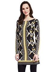 M&S Collection Aztec Print Knitted Tunic
