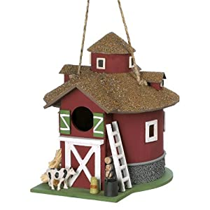 Gifts & Decor Big Red Barn Barnyard Garden Hanging Bird House (Discontinued by Manufacturer)