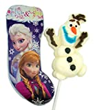 Frozen's Elsa and Anna Holiday Chocolate Bar with (2) Olaf Marshmallow Pops