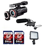 Sony NEXVG900 Full Frame Interchangeable Lens Camcorder Video Camera and Sony XLRK1M Balanced Audio Adapter Bundle