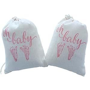 design corral baby shower favor bags favors party bag pink
