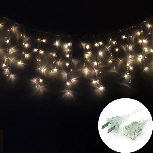 Dodolightness New 3M X 0.5M 100 Led Icicle Ice Bar Lamp Shimmering Fairy Lights 8 Light Mode For Wedding Christmas Party Holiday(Warm White)