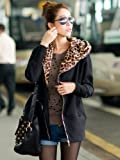 Funky Longline Oversized Zip Up Leopard Print Hoodie Cardigan Available In Camel, Black, Dark Grey In Sizes Small, Medium, Large, Extra Large