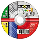 Flexovit All In One Steel Cutting, Light Grinding And Polishing Disc 3 Layered Strong Reinforcement 125mm Bore Size: 22.23mm
