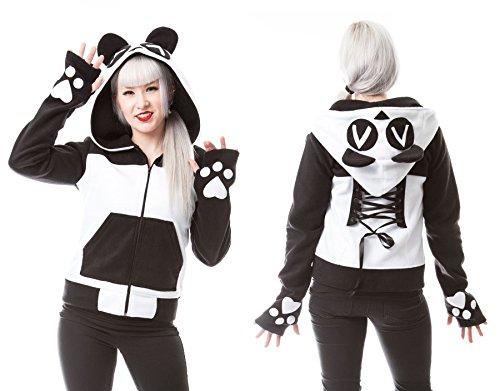 Killer Panda -  Felpa con cappuccio  - ragazza Black/White XL