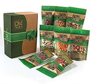 Holiday Mixed Nuts Gift Box - 9 Gourmet Variety Pack 45 Oz - Great for Gift Giving Or As an Everyday Snack - Oh! Nuts