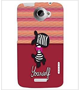 PrintDhaba Cartoon D-5793 Back Case Cover for HTC ONE X (Multi-Coloured)