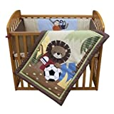 Lambs & Ivy Team Mini Crib Set, Safari