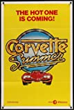 Corvette Summer teaser one-sheet movie poster '78 cool different art of custom Chevrolet Corvette!