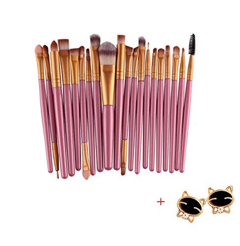 Malloom® 20 PC Professionale Contorno Piatto Fard Pennello Cosmetico Rossore Kabuki Strumento Cosmetici Pennello Trucco (Oro)