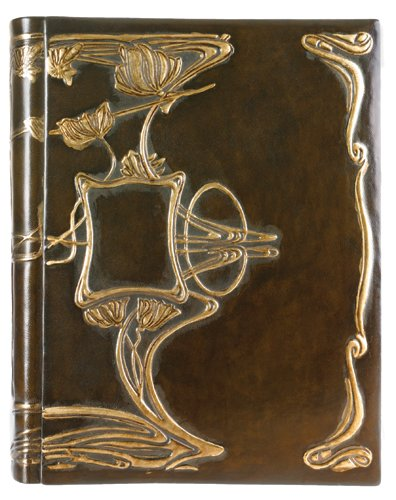 Art-Nouveau Leather Photo Album, Wedding Album,