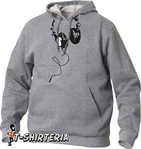 felpa con cappuccio Cuffia DJ, musica, tutte le taglie uomo donna maglietta by tshirteria S M L XL XXL maglietta by tshirteria