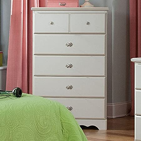Standard Furniture Daphne 5 Drawer Chest in White Finish
