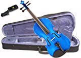 Music Basics Violin Complete Kit with Free Tuner - Blue 3/4 Size (VLN-12-Blue 3/4)
