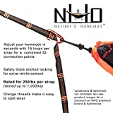 Hammock Tree Straps. Heavy Duty Strength, Extra Long, Ultralight, & Adjustable Loops. No-Stretch Polyester