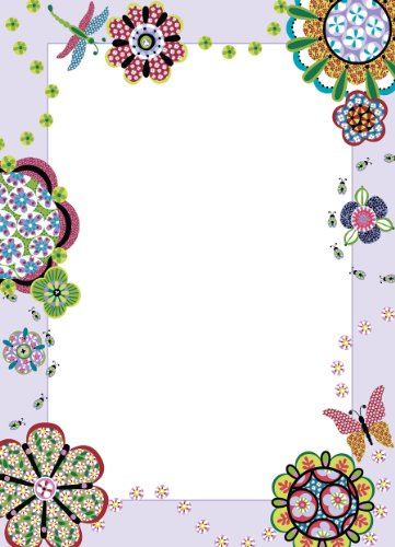 Brewster Wall Pops WPE99822 Peel & Stick Flower Power Dry-Erase Message Board with Marker