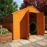 BillyOh 9' x 10' Lincoln Tongue And Groove Double Door Apex Wooden Garden Shed