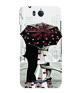PrintVisa Romantic Love Couple Road 3D Hard Polycarbonate Designer Back Case Cover for Infocus M530