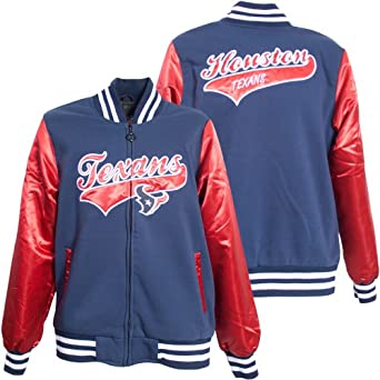 Ladies Houston Texans NFL Sweetheart Jacket by MTC Marketing (Navy-Red) by MTC Marketing