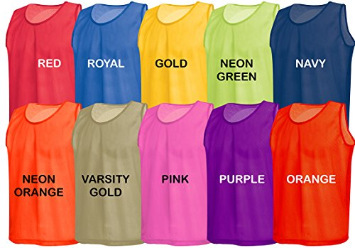 American Challenge Soccer Sports Scrimmage Vest Jersey (Royal Blue, 10 Pack Child) (Kids American Football Jerseys compare prices)