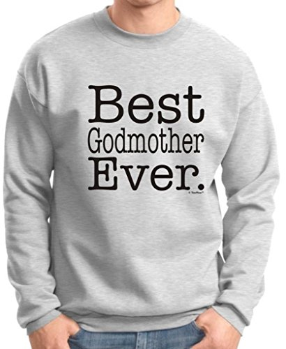 Best Godmother Ever Premium Crewneck Sweatshirt Small Ash front-766657