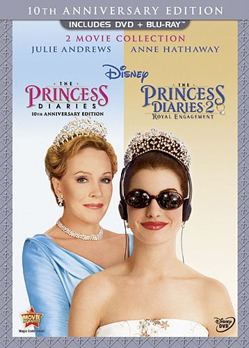 Cover art for  The Princess Diaries: Two-Movie Collection (Three-Disc Combo Blu-ray/DVD Combo in DVD Packaging)