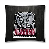 BlueCanoeH6972-NCAA Alabama Crimson Tide Sport Pillow Cover, 18x18 inches Cotton Toss Pillow Case, Christmas Decor by Blue Canoe