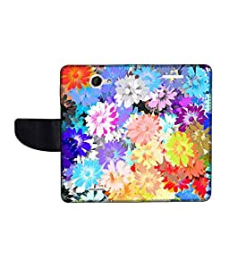 KolorEdge Printed Flip Cover For HTC Desire 516 Multicolor -(50KeMLogo12053HTC516)