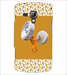 PrintDhaba Weight Lifting D-3073 Back Case Cover for SAMSUNG GALAXY S DUOS 2 S7582 (Multi-Coloured)