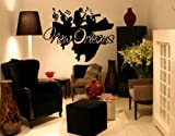 Best Quality Vinyl Wall Sticker Decals - New Orleans ( Size: 39in x 40in - Color: white ) - No: S135