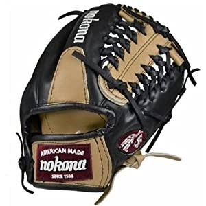 Nokona Bloodline Pro Elite Sanstone Black Baseball Modified Trap Baseball Glove (Right Handed Throw)