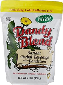 Dandy Blend Instant Herbal Beverage Coffee Substitute with Dandelion -100% caffeine-free, gluten free, NO GMO's from Dandy Blend