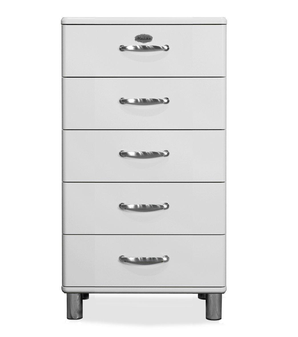Tenzo 5215005 Malibu  Designer Kommode, MDF lackiert, 111 x 60 x 41 cm, weiß  Kritiken und weitere Informationen