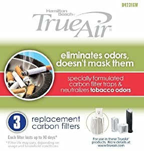 4 X Hamilton Beach True Air Carbon Filter for Tobacco Odors (3 Pack) from BulkFilter