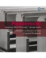 """Penderecki : Symphonie n°2 """"Christmas"""" - Oeuvres sacrées"""