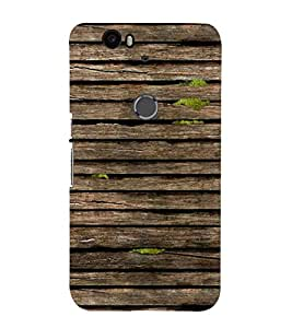 99Sublimation Light Brown Wood 3D Hard Polycarbonate Back Case Cover for Huawei Nexus 6P :: Huawei Google