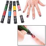 Migi Nail Art Polish Design 8 Classic Colors - Set of 4 Pen-brushes