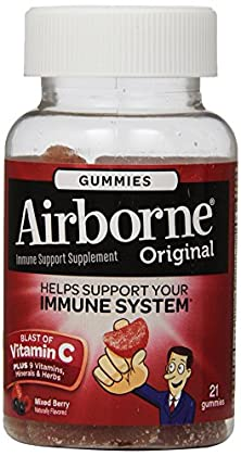 buy Airborne Vitamin C 1000Mg Immune Support Supplement, Gummies, Berry Flavor, 21 Count