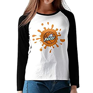 NORAL Women's Florida Gulf Coast University Long Sleeve Tee Baseball Shirt Raglan Shirt Black Size L