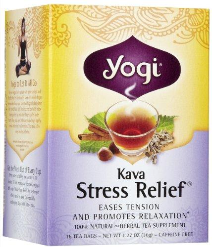 Yogi Tea Kava Stress Relief, Herbal Supplement, Tea Bags, 16 Ct