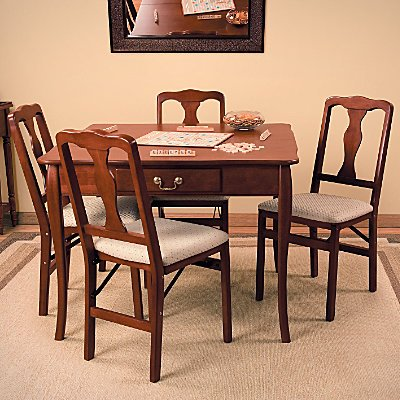 3 In 1 Country French Expandable Wood Table Cherry   Improvements