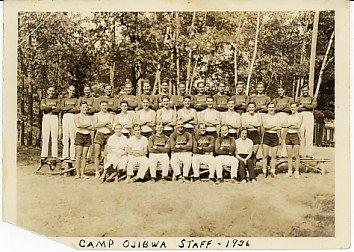 Camp Ojibwa Staff Photo 1936. Eagle River, Wisconsin