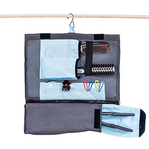 G.U.S. Professional Hair Tools and Accessories Hanging Organizer for Travel and Home-Use Bag, with Detachable Curling and Straight Iron Pouch (Expresso Tabs compare prices)